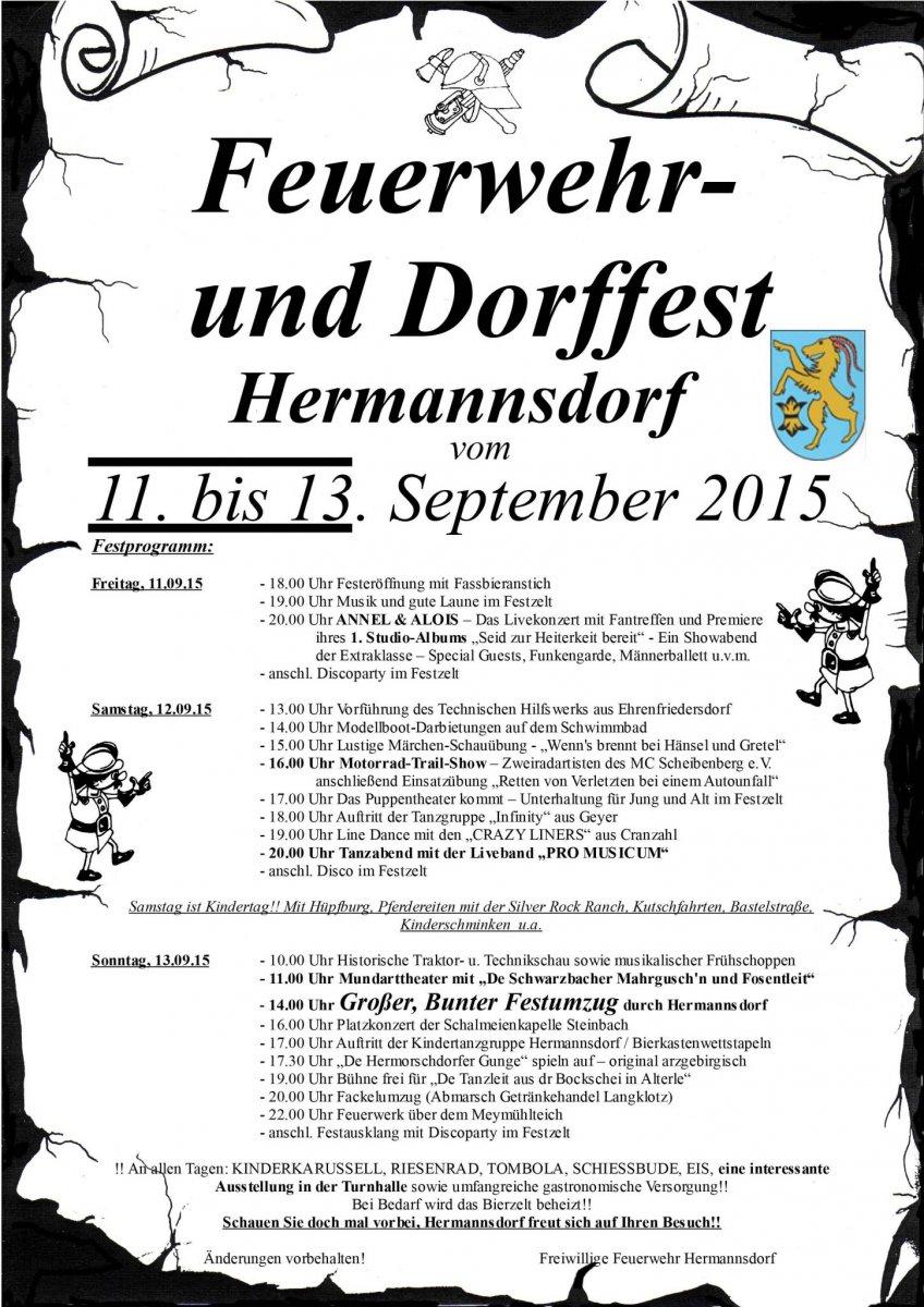 Festplakat Hermannsdorf A4